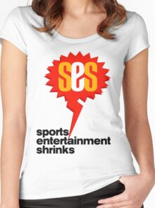 SES Podcast - Sports Entertainment Shrinks Women's Fitted Scoop T-Shirt