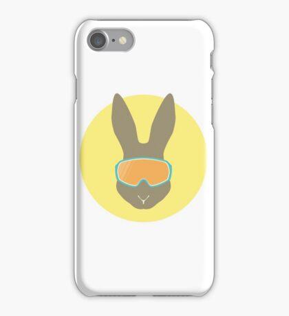 Rabbit with ski mask. iPhone Case/Skin