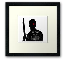 I Know Now Why You Cry... Framed Print