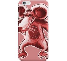 angry rat cartoon style iPhone Case/Skin