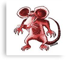 angry rat cartoon style Canvas Print