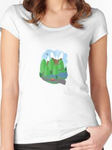 Trip Through the Mountains Women's Fitted Scoop T-Shirt
