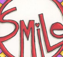 Smile! It's the universal language.  Sticker