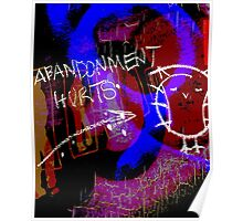 abandonment hurts (turned) Poster