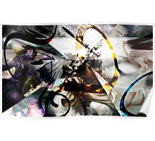 Three Angels Abstraction Poster