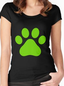 Miraculous Ladybug/Chat Noir Paw Women's Fitted Scoop T-Shirt