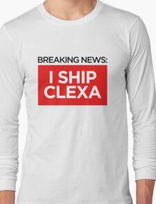BREAKING NEWS: I SHIP CLEXA Long Sleeve T-Shirt