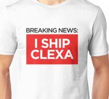 BREAKING NEWS: I SHIP CLEXA Unisex T-Shirt
