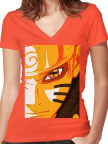 Bijuu Mode Women's Fitted V-Neck T-Shirt