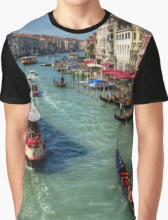 Traffic on the Grand Canal Graphic T-Shirt
