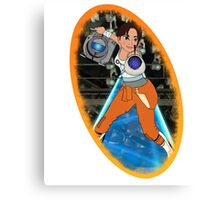 Portal - Chell & Wheatley Canvas Print