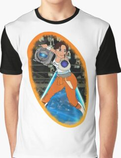 Portal - Chell & Wheatley Graphic T-Shirt