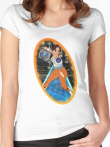 Portal - Chell & Wheatley Women's Fitted Scoop T-Shirt