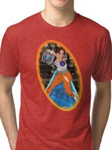Portal - Chell & Wheatley Tri-blend T-Shirt