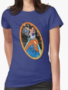 Portal - Chell & Wheatley Womens Fitted T-Shirt
