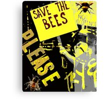 Please save the bees Canvas Print