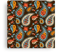 Brown Paisley Canvas Print