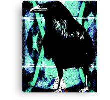 Raven waiting Canvas Print