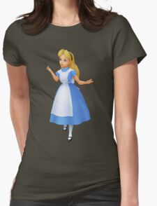 Alice in Wonderland ~ Fantasy Fairy Tale Gift Womens Fitted T-Shirt