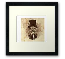 Steampunk Mustache Framed Print
