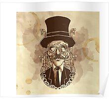 Steampunk Mustache Poster