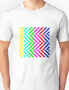 Stripes multi color pattern (tv no signal) Unisex T-Shirt