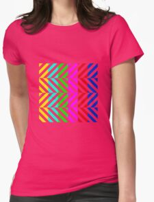 Stripes multi color pattern (tv no signal) Womens Fitted T-Shirt