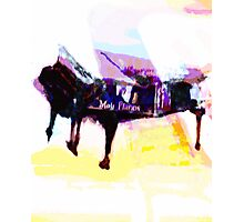 Moir Piano being painted Photographic Print