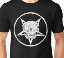 White Cult Cat Skull Unisex T-Shirt