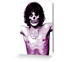 THE MISFITS JIM MORRISON Mash Up (Original/ White) Greeting Card