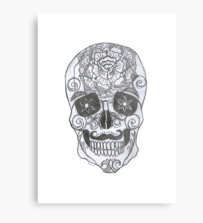 sp00ky scary skeleton Canvas Print