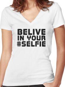 Facebook Funny Popular Selfie Internet Joke T-Shirt  Women's Fitted V-Neck T-Shirt