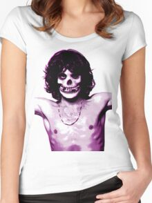 THE MISFITS JIM MORRISON Mash Up (Original/ White) Women's Fitted Scoop T-Shirt