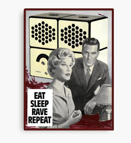 Eat Sleep Canvas Print