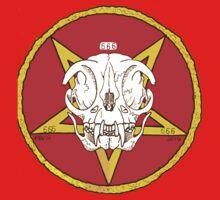 Red Cat Skull Cult Baby Tee