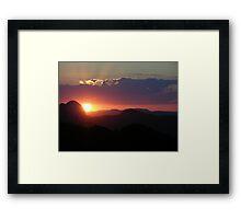 Brazil Sunset Framed Print