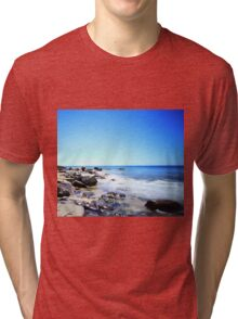 Marino Rocks under a South Australian summer sky Tri-blend T-Shirt