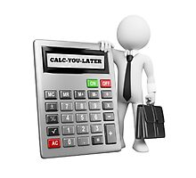 CALC-YOU-LATER Photographic Print