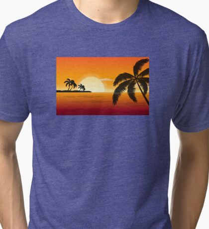Sunsets on the beach Tri-blend T-Shirt