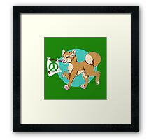 Gunther the Positivity Dog Framed Print