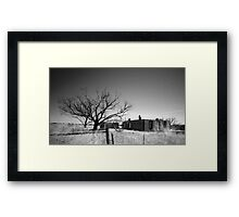 An old ruins on Yorke Peninsula Framed Print