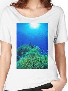 Coral reef scene Women's Relaxed Fit T-Shirt