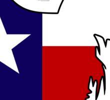 Texas flag chicken rooster hen Sticker