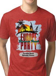 Mykonos, Greece Tri-blend T-Shirt