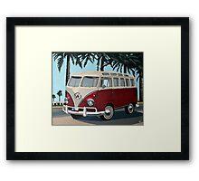 Little Red Bus Framed Print