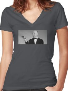 Hitchcock Women's Fitted V-Neck T-Shirt