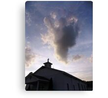 Angel Cloud Over The Old Church Canvas Print