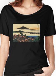 'Dawn at Isawa in the Kai Province' by Katsushika Hokusai (Reproduction) Women's Relaxed Fit T-Shirt