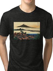 'Dawn at Isawa in the Kai Province' by Katsushika Hokusai (Reproduction) Tri-blend T-Shirt