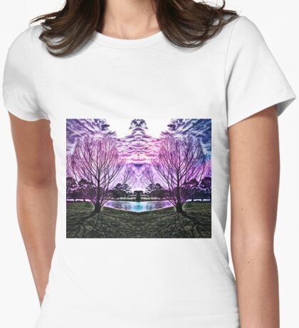 Scenic View Womens Fitted T-Shirt